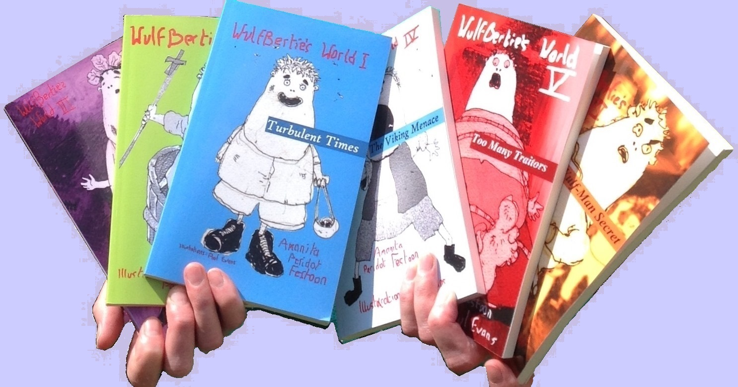 See the six books containing Wulfbertie's stories